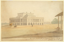 'Barrackpore. The Seat of the Governor General 16 miles from Calcutta from Nature.  November 1807'